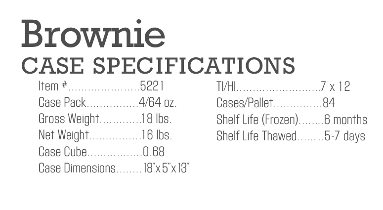 Brownie Case Specs