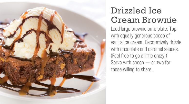 Drizzled Ice Cream Brownie
